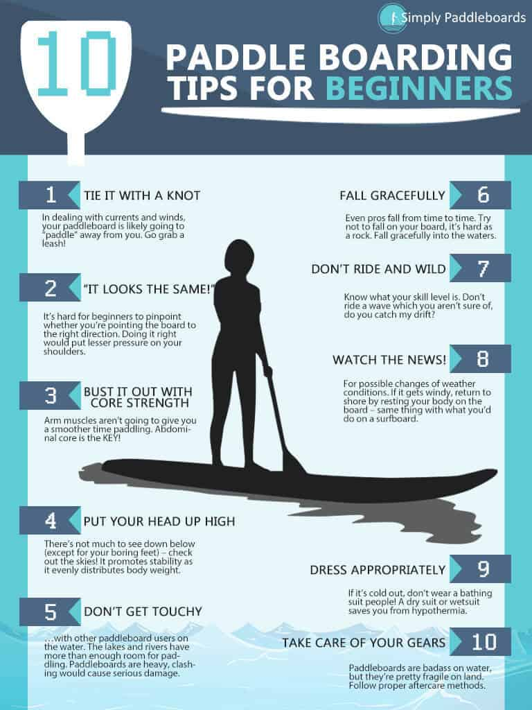 10 Paddle Boarding Tips for Beginners
