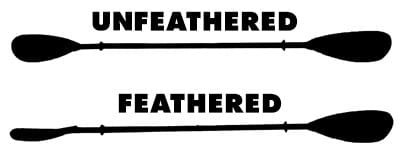 unfeathered vs feathered kayak paddle