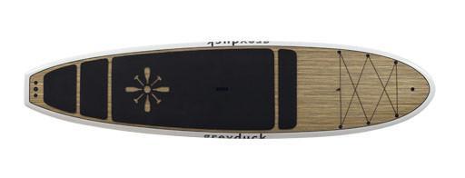 paddle board planing hull
