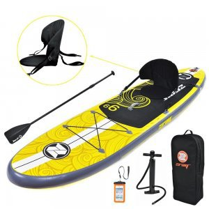 Zray Inflatable Paddle Board Set, Pump/Paddle/Backpack