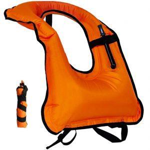 Lesberg Inflatable Adult Snorkel Vest