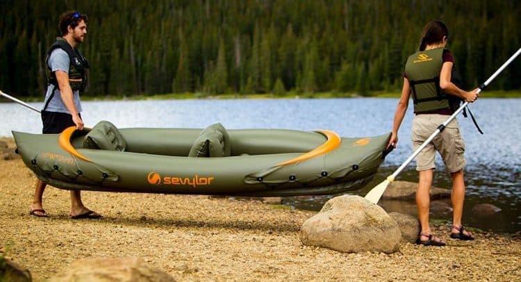 carring the tahiti 3 person kayak