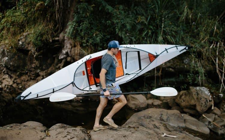 carrying a kayak