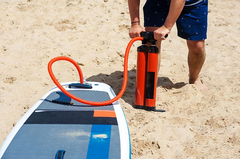 hand paddle board pump