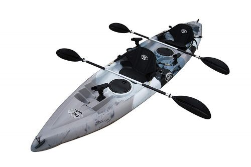 Brooklyn Kayak Company BKC UH-TK181 12-foot 5-inch Sit On Top Tandem 2 Person Fishing Kayak
