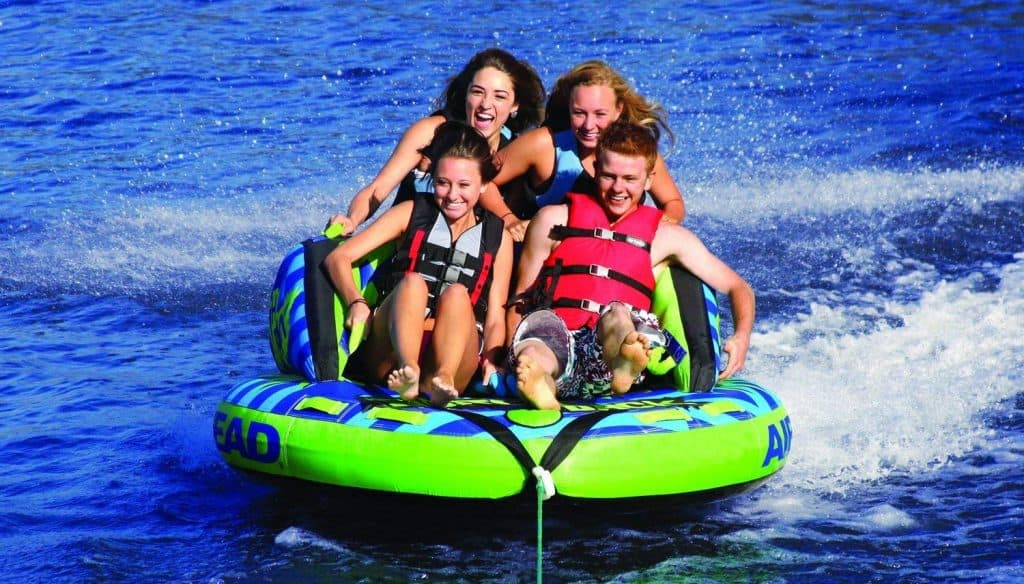 towable inflatable water tubes